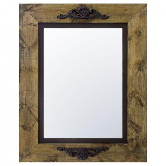 Espelho Cristal com Moldura Marrom e Preto com Apliques