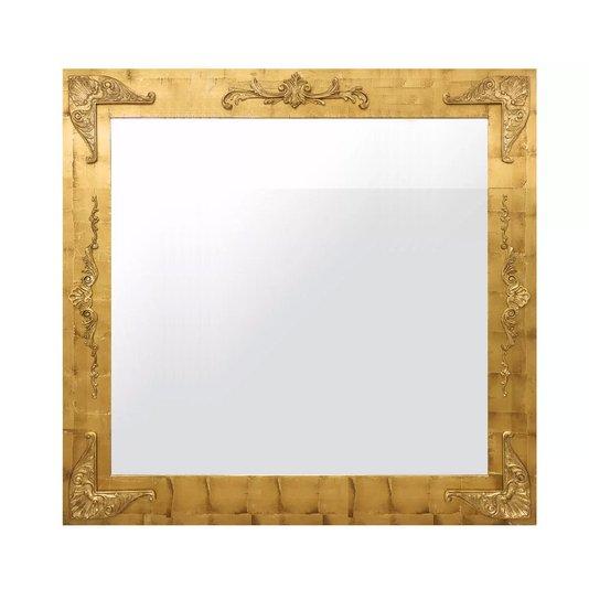 Espelho Clássico com Moldura em Folha de Ouro 150x110 cm