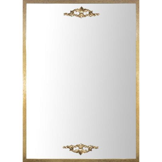 Espelho Clássico Decorativo com Moldura e Apliques Dourados