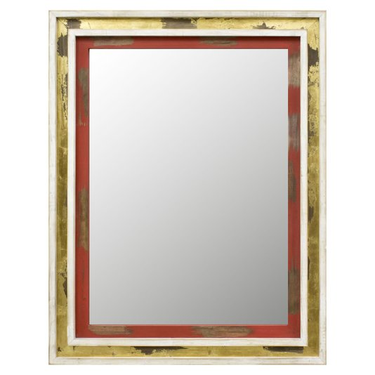 Espelho com Moldura Rústica Colorida Vários Tamanhos
