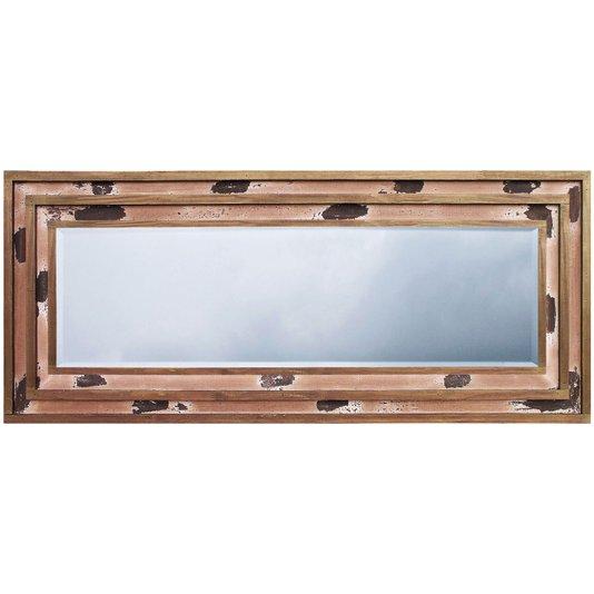 Espelho Decor com Moldura Rústica na Cor Marrom