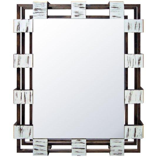 Espelho Cristal com Moldura Vazada Rústica