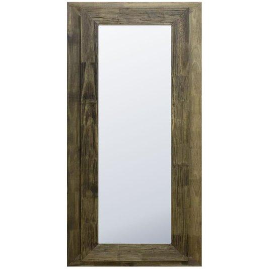 Espelho com Dupla Moldura Rústica Cor Marrom