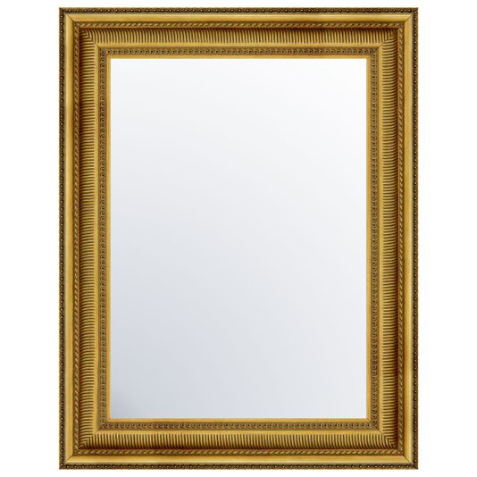 Espelho com Moldura em cor Ouro Envelhecido Sombreado