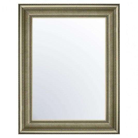 Espelho Cristal com Moldura em Prata Envelhecido Sombreado