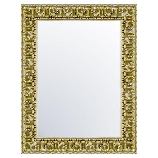 Espelho com Moldura em Prata Sombreado Envelhecido