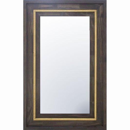 Espelho com Moldura Marrom e Dourada 80x130cm