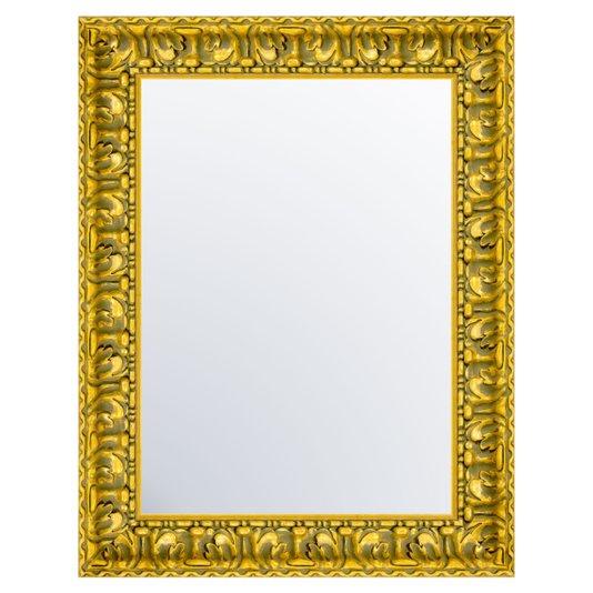 Espelho com Moldura na cor Ouro Envelhecido