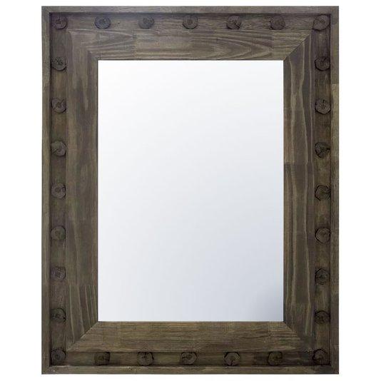 Espelho com Moldura Rústica Decorativa 110x140 cm