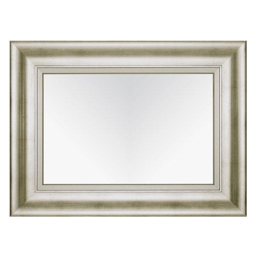 Espelho Cristal Decorativo com Moldura Prata Envelhecida