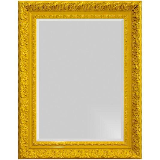 Espelho Decorativo com Bisotê Amarelo Retrô Plus