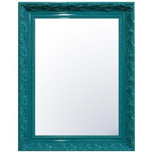 Espelho Cristal Decorativo com Moldura Azul Retrô Plus