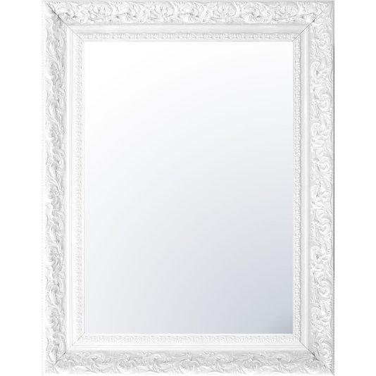 Espelho Cristal Decorativo Branco Retrô Plus
