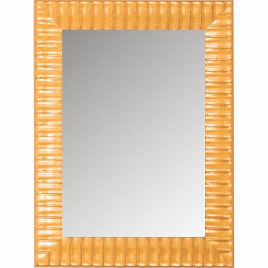 Espelho Decorativo Moldura Amarela Trabalhada 60x80cm