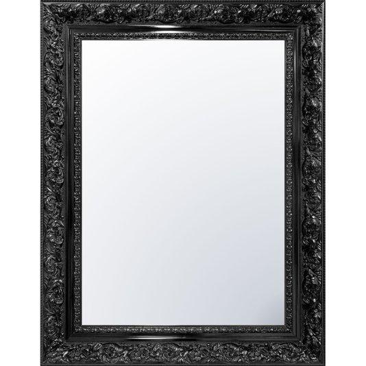 Espelho Cristal Decorativo Preto Retrô Plus