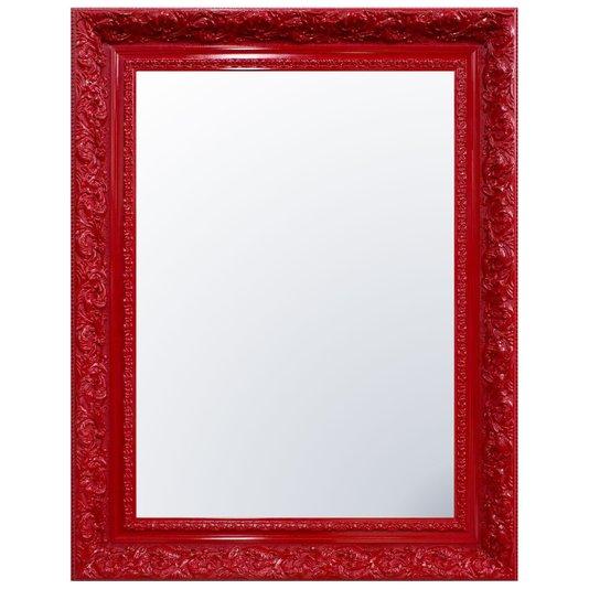Espelho Decorativo Cristal Vermelho Retrô Plus