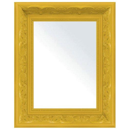 Espelho Decorativo com Moldura Amarela Retrô