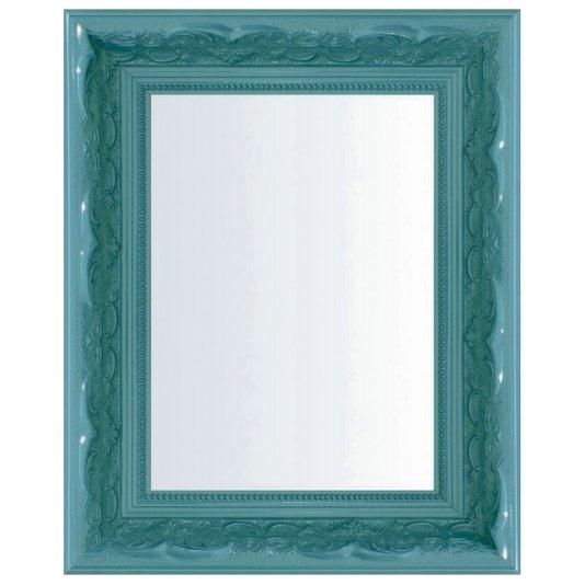 Espelho Decorativo com Moldura Azul Retrô