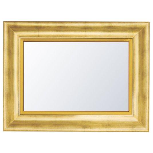Espelho Decorativo Cristal com Moldura Dourada