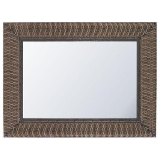 Espelho Decorativo Cristal com Moldura Marrom