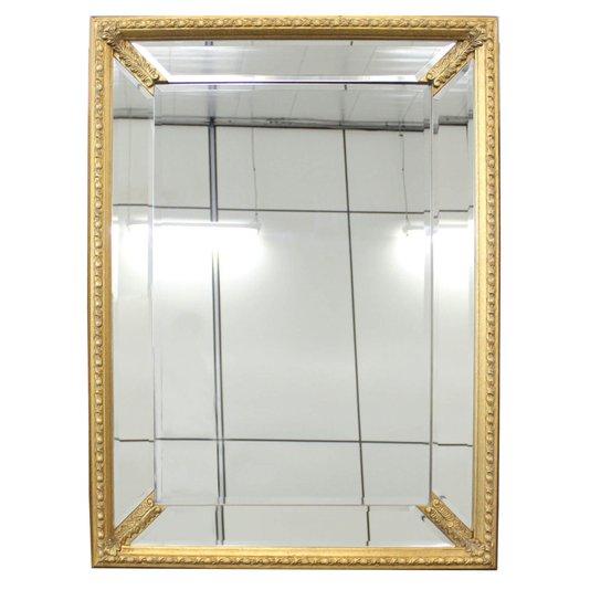 Espelho Decorativo com Moldura Dourado 70x100 cm