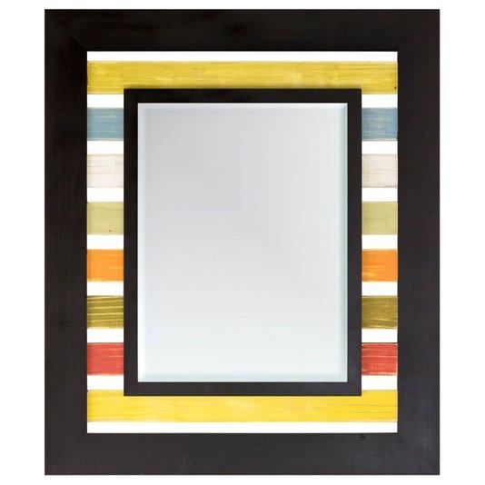 Espelho Decorativo com Moldura em Várias Cores Rústico com Bisotê - DP1449