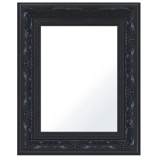 Espelho Decorativo com Moldura Preta Retrô
