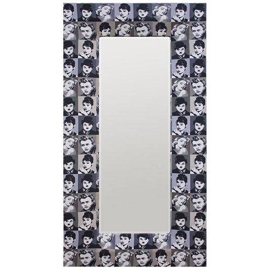 Espelho com Moldura Estampa Artistas Famosos da Época 100x200 cm