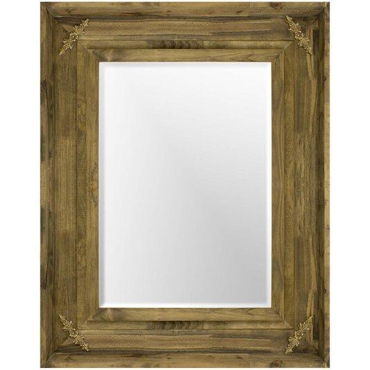 Espelho Decorativo com Moldura Rústica com Apliques Dourados