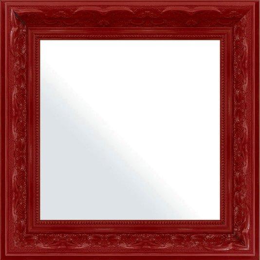 Espelho Decorativo com Moldura Vermelha Retrô