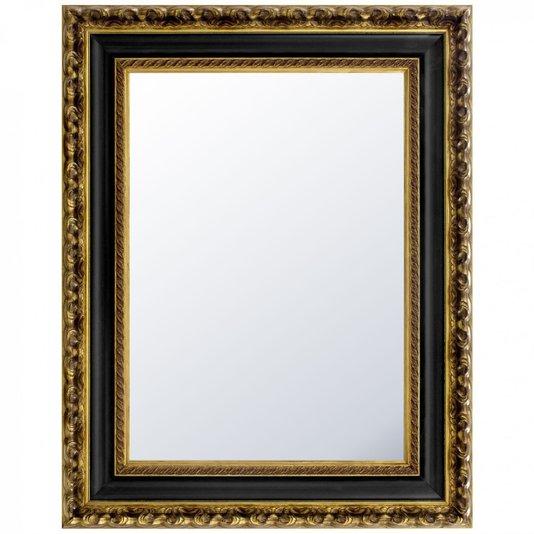 Espelho Decorativo Cristal  na Cor Dourado Envelhecido e Preto