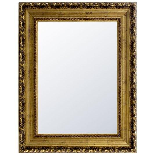 Espelho Decorativo Cristal Moldura Cor Dourado Envelhecido