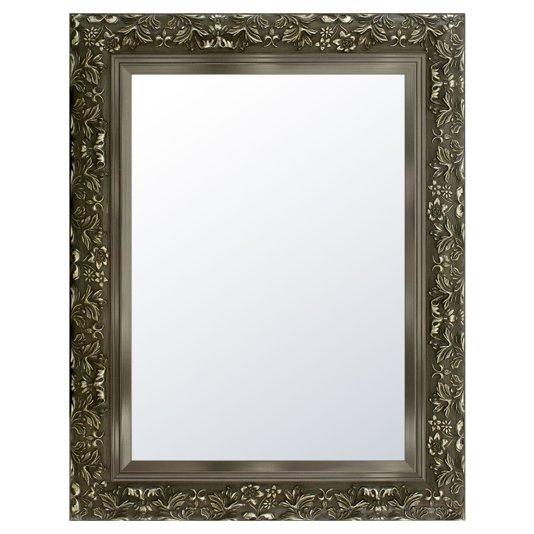 Espelho Cristal Decorativo Moderno na Cor Prata Envelhecido