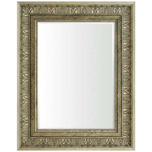 Espelho Decorativo Moderno na Cor Prata Envelhecido com Bisotê - DPAD0305