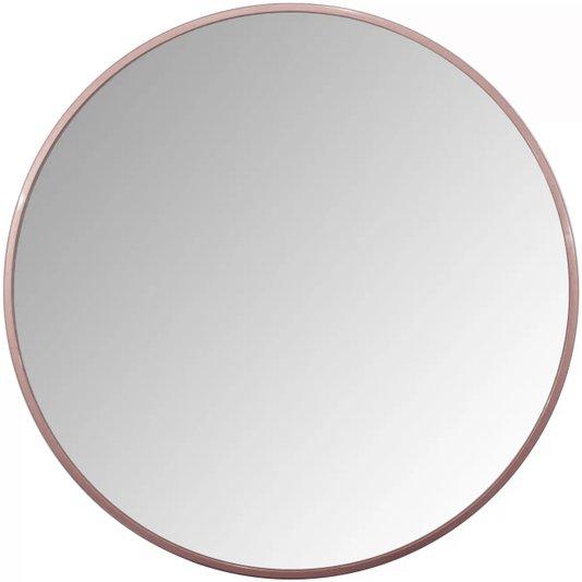 Espelho Decorativo Redondo Com Moldura Cobre Rosê Gold