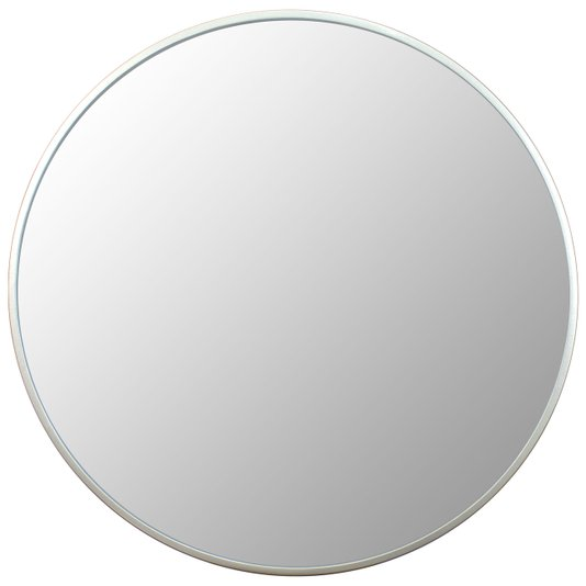 Espelho Decorativo Redondo com Moldura Prata