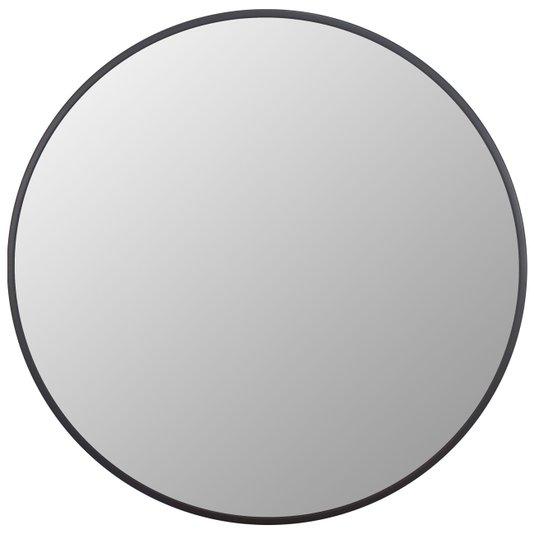 Espelho Decorativo Redondo com Moldura Preta