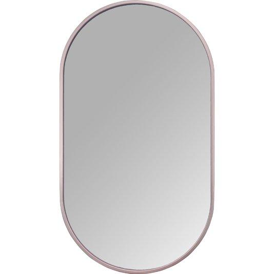 Espelho Decorativo Retangular Arredondado com Moldura Cobre Rosê Gold