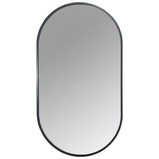 Espelho Decorativo Retangular Arredondado com Moldura Preta
