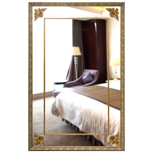 Espelho Grande Clássico com Moldura Dourada 130x200cm
