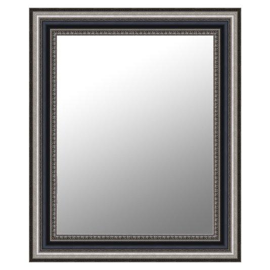 Espelho Grande Clássico Modelo Rei Luiz Moldura Prata