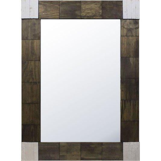 Espelho Rústico Elaborado com Madeira de Demolição