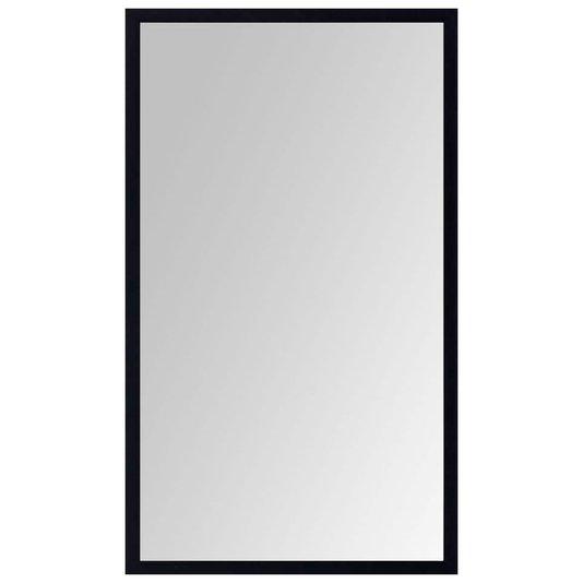 Espelho Moderno Decorativo com Moldura Preta sem Bisotê 60x100cm