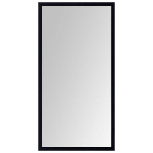 Espelho Moderno Decorativo com Moldura Preta sem Bisotê 60x110cm