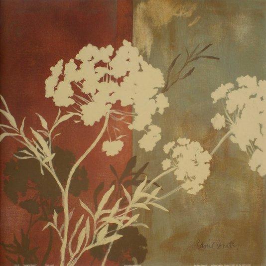 Gravura para Quadros Floral - Entre As Flores 46x46cm