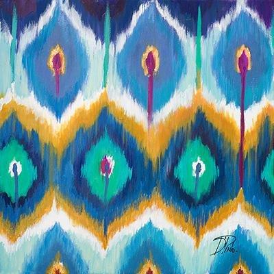 Gravura para Quadros Abstrata Azul Arte de Patricia Pinto 46x46cm