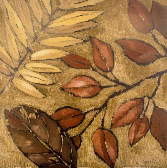 Gravura para Quadros Folhas Verão Indiano II Lanie Loreth 46x46cm