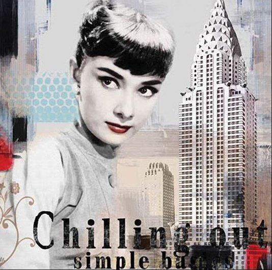 Quadro Tela Impressa Audrey Hepburn Nova York 60x60cm
