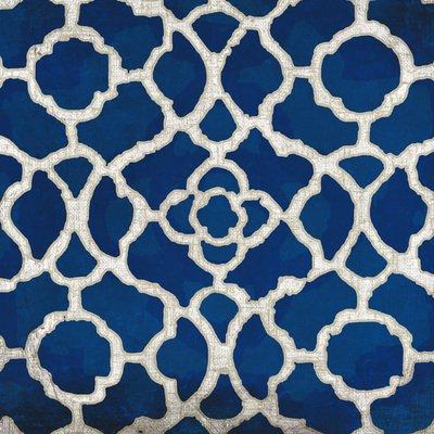 Gravura para Quadros Arte Abstrata Azul 15x15cm