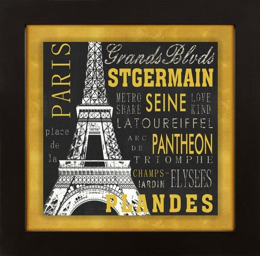 Quadro Decorativo Tela Emoldurada Paris Torre Eiffel 140x140cm